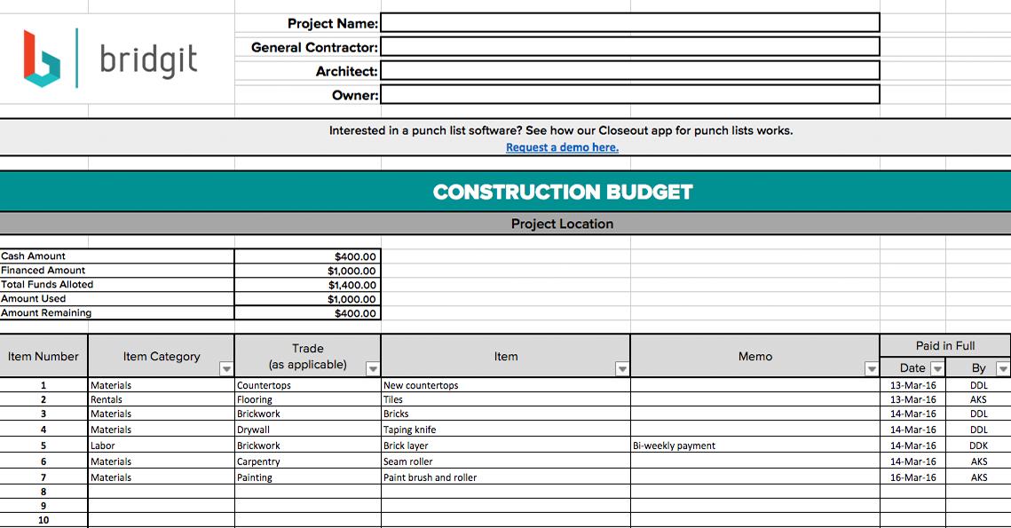 free construction schedule spreadsheet