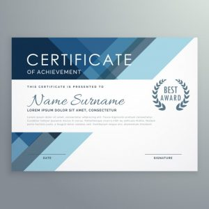 free diploma templates blue certificate design in professional style