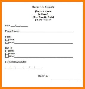 free doctor excuse printable doctor notes for work free doctors note template