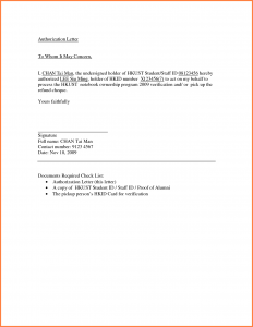 free doctor excuse sample of authorization letter
