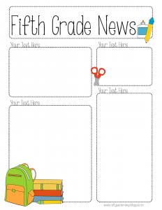 free editable newsletter templates for teachers newslettereditable
