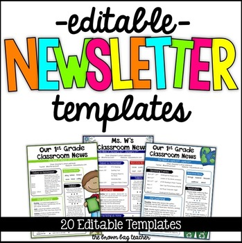 free editable newsletter templates for teachers