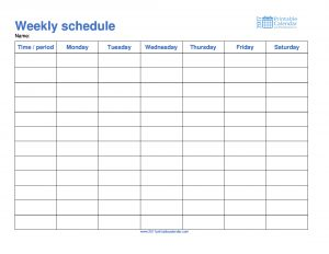 free employee schedule template weekly schedule monday to saturday