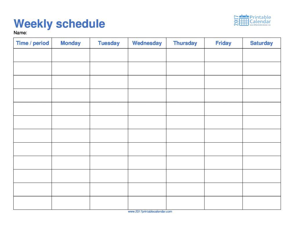 free employee schedule template
