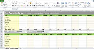 free employee schedule template weekly timesheet template