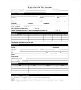 free employment application pdf blank employment application template pdf format