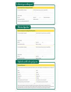 free employment application template morrisons fresh job application form l