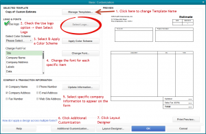 free estimate forms quickbooks tip how to add a logo and customize your forms pertaining to quickbooks estimate template