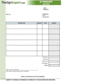 free estimate forms thesignexpert e toolkit sign shop invoice