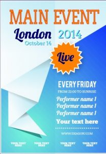 free event flyer templates free event flyer template