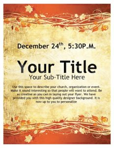 free event flyer templates page