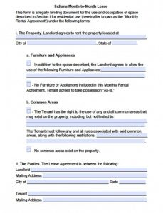 free eviction notice form indiana month to month rental agreement x
