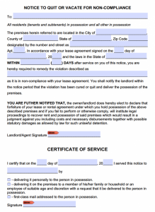 free eviction notice form notice to comply or quit template x