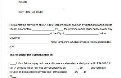 free eviction notice template eviction notice template free doc download