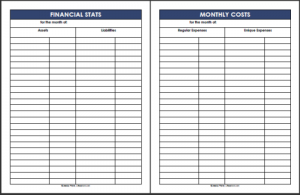 free expense report template financial stats