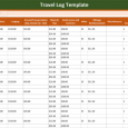 free expense report template free travel log template x