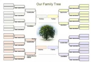 free family tree template word img ecff x
