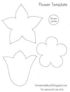 free flower templates flower template