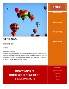 free flyer templates word event flyer template