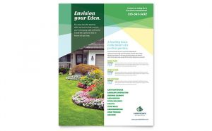 free fundraiser flyer templates flyer landscaping service hm s