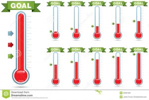 free fundraising thermometer goal thermometer customizable multiple levels fill multiple arrow styles