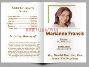 free funeral program template download free funeral program templates