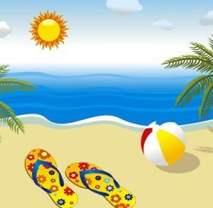 free holiday card templates vector summer sun beach