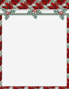 free holiday stationery templates christmas