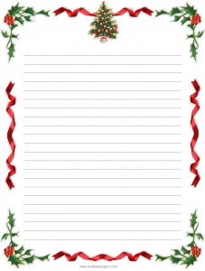 free holiday stationery templates free printable lined christmas stationery
