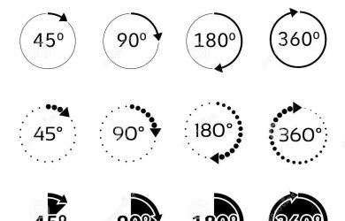 free id badge template angles degrees vector icons set rotation degree illustration