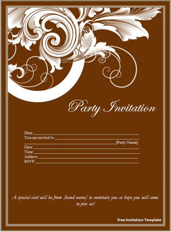 free invitation templates for word