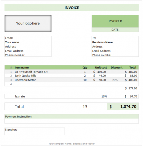 free invoice template download free invoice template excel download