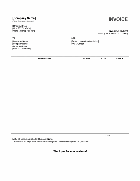 free invoice template download