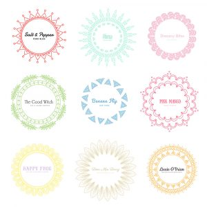 free letterhead template mandala logos colour