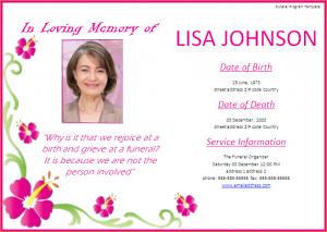 free memorial service program template funeral invitation template funeral program template