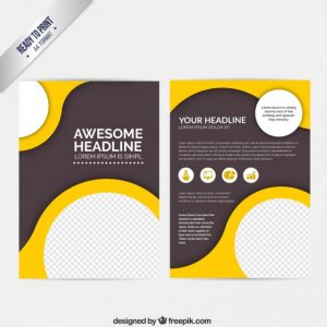 free menu design templates abstract brochure with circles