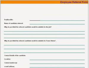 free menu templates for word employee referral form sample
