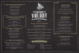 free menu templates for word volant brunch