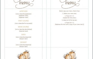 free menu templates thanksgiving menu template 1024x794