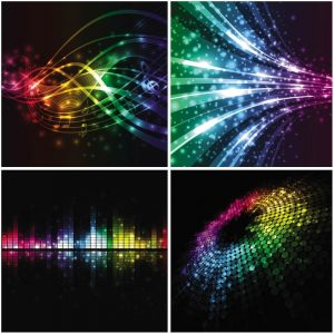 free music background music wave background vector