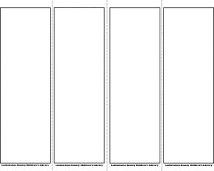 free newsletter templates for microsoft word bookmark template