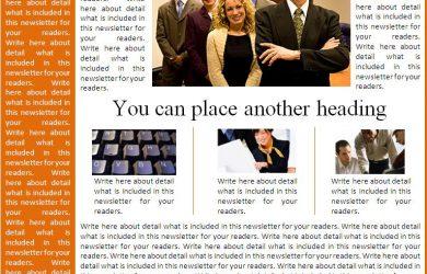 free newsletter templates free newsletter template