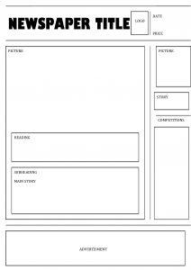 free newspaper template newspaper template