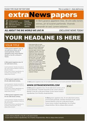 free newspaper template