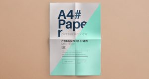 free newspaper templates a letter paper brand presentation overhead view mockup vol