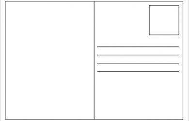 free postcard template blank postcard template free amp premium templates free postcard templates