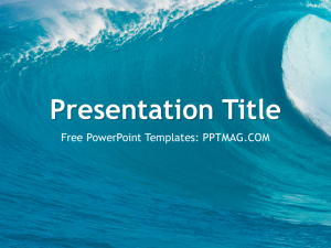 free powerpoint templates for teachers ocean waves powerpoint template preview x
