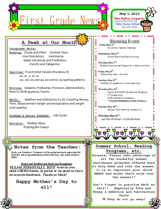 free preschool newsletter templates