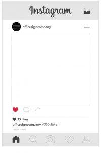free price list template selfie frame instagram template