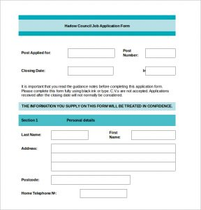 free printable application for employment template employment word document template